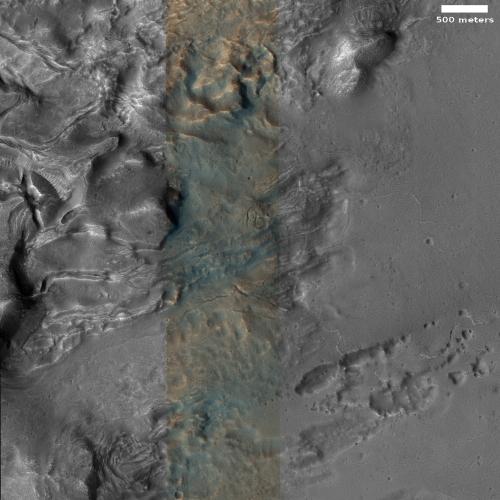 Strange geology in Cydonia on Mars