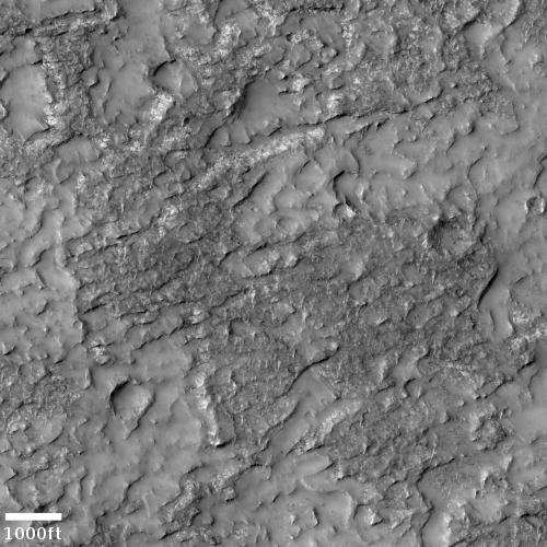 Volcanic badlands on Mars