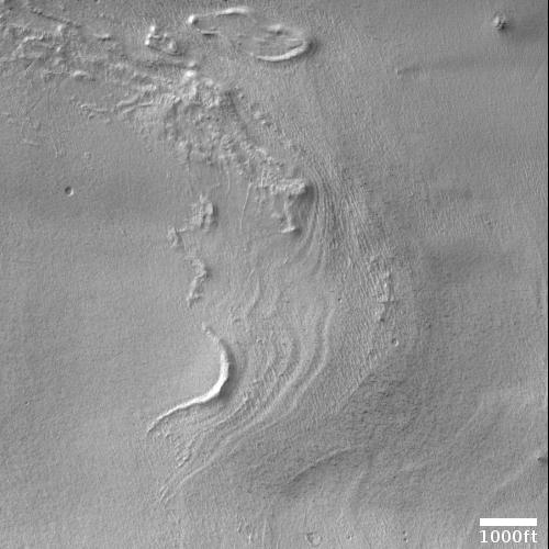 Moraines on Mars