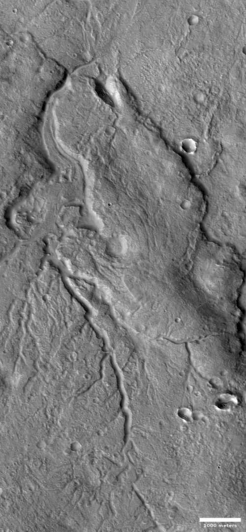 A drainage channel on Mars