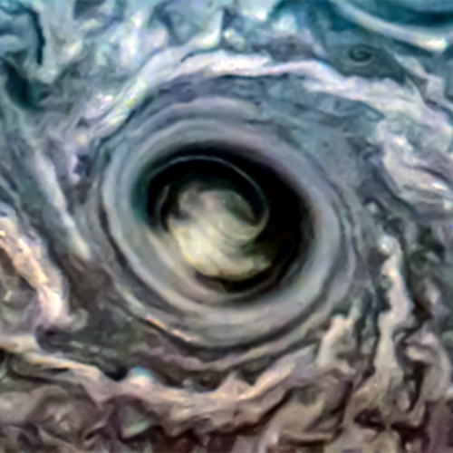A northern cyclone on Jupiter