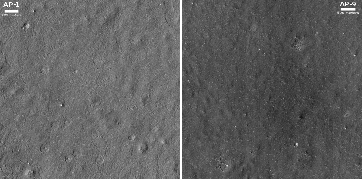Prime Starship landing sites AP1 and AP9