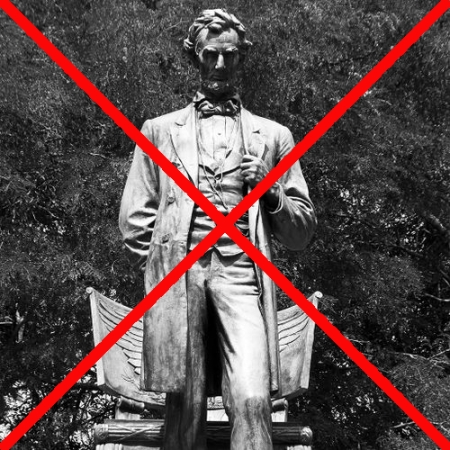 Lincoln banned as evil by Chicago politicians