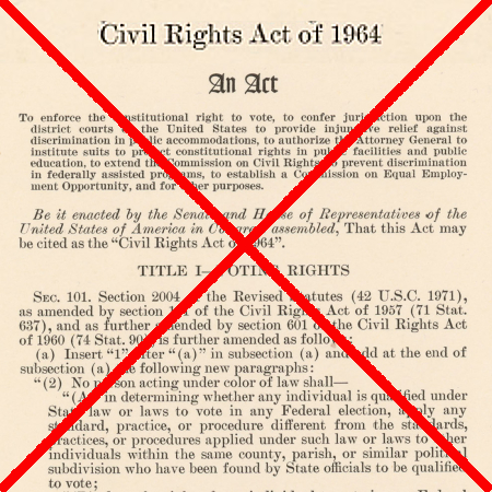 The Civil Rights Act of 1964: repealed by Cornell