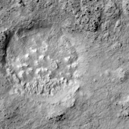 Close-up of central crater