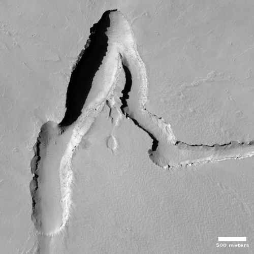 A lonely dry lava spring on Mars