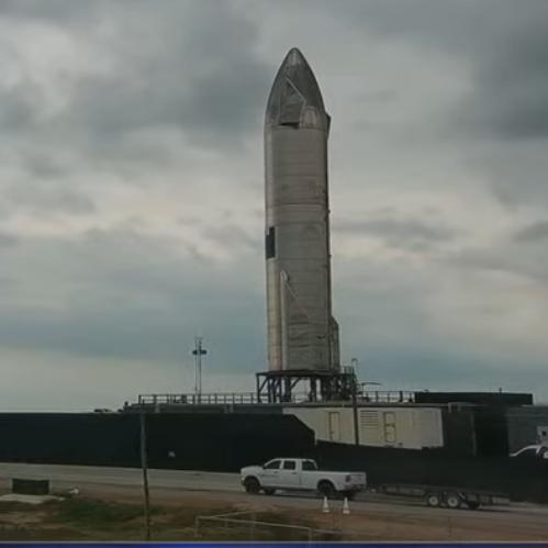 Starship #15 on launchpad