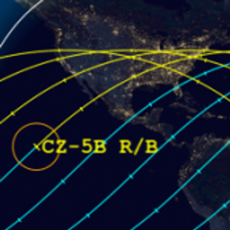 Zoom into Long March 5B's track over the U.S.
