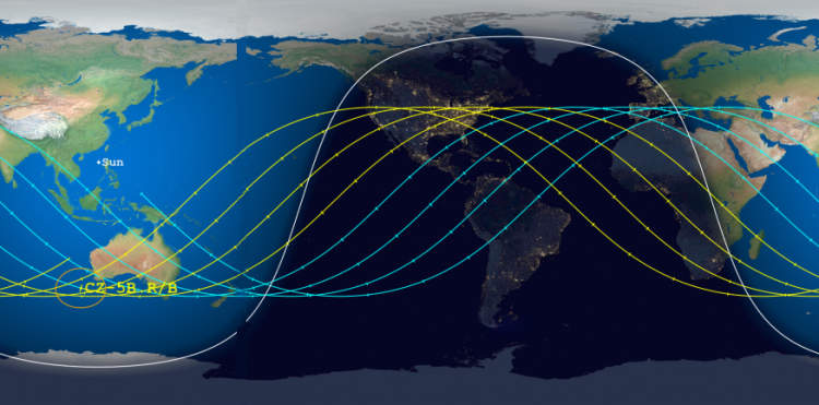 Aerospace's revised Long March 5B crash window