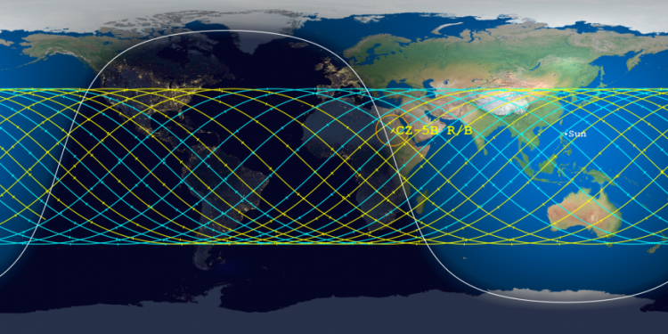 Aerospace prediction for Long March 5B reentry, May 6