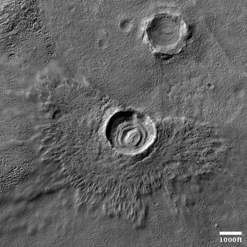 A crater with wings!