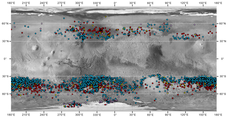 The global distribution of Martian gullies