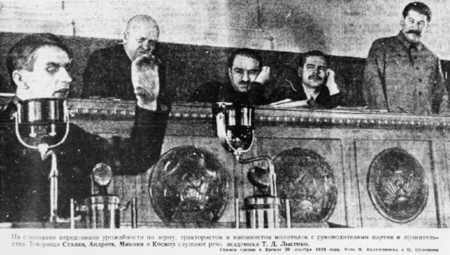 Lysenko with Stalin