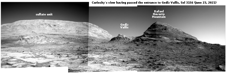 Curiosity's view uphill on June 23, 2021