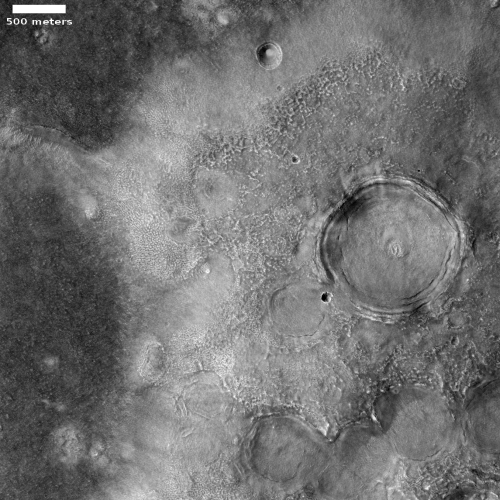 Typical lowland features on Mars