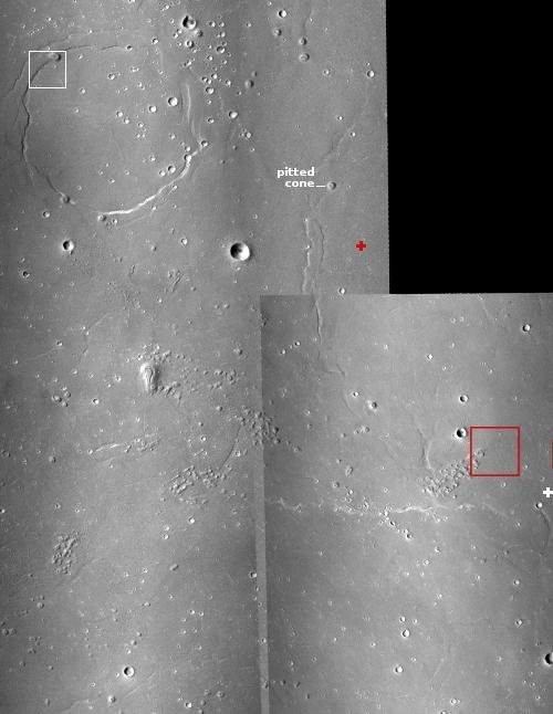Mosaic of MRO context images showing Zhurong landing region