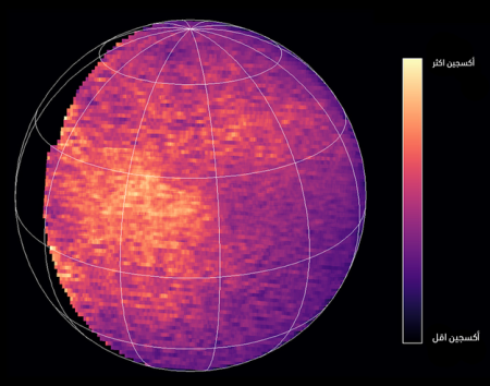 Oxygen distribution on Mars
