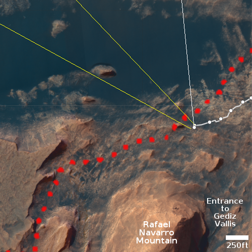Overview map, close view