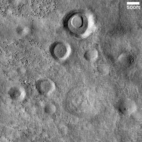 Craters in Protonilus Mensae