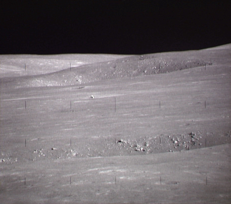 Apollo 15 seen from a distance during one excursion