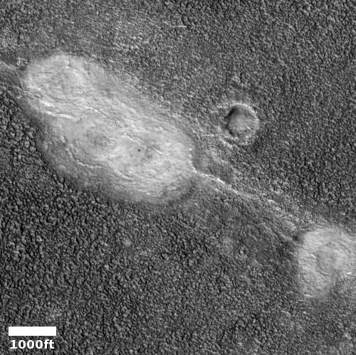 White blobs on Mars