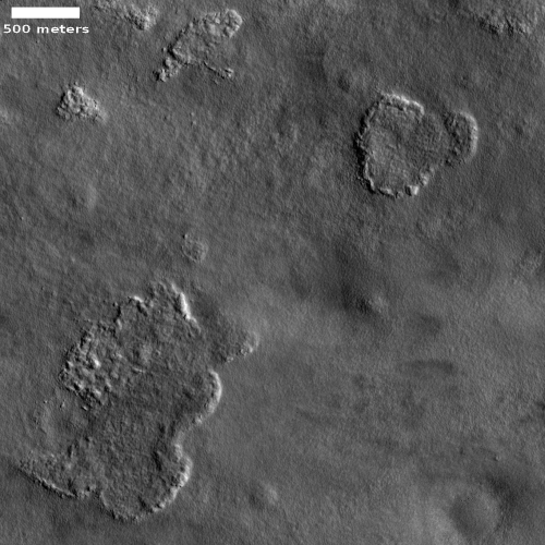 Sublimating patches on Mars?