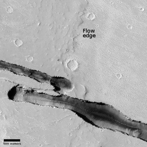 New cracks across an old lava flow