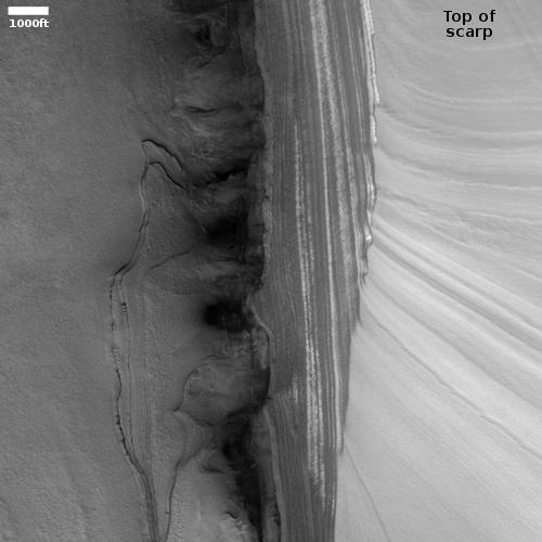 The north pole scarp