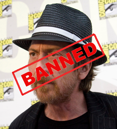 Banned: Artist and screenwriter Frank Miller