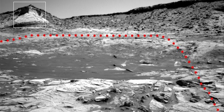 Curiosity's upcoming mountainous target