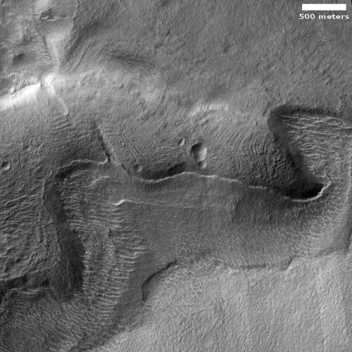 Glaciers in Mars' southern hemisphere