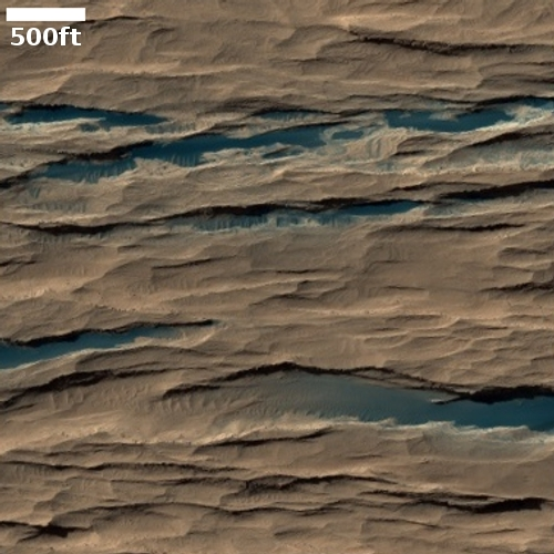 Dark layers in Medusae Fossae Formation