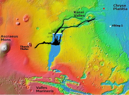 Overview map of Kasei Valles