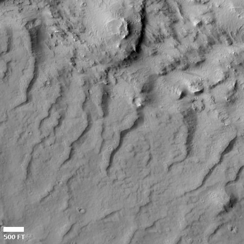 Rivulets in Martian lava