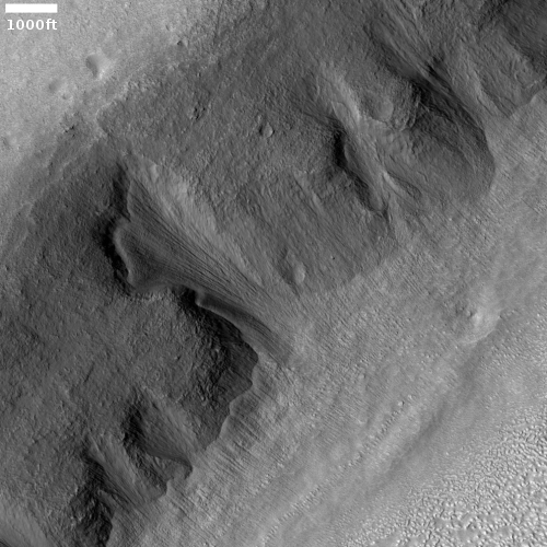 A glacial falls on Mars
