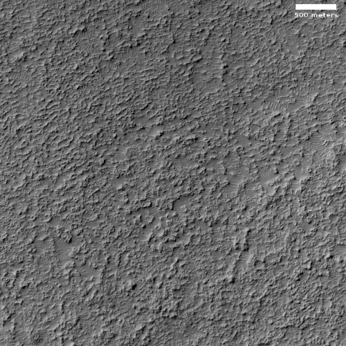 Badlands on the floor of a Martian crater