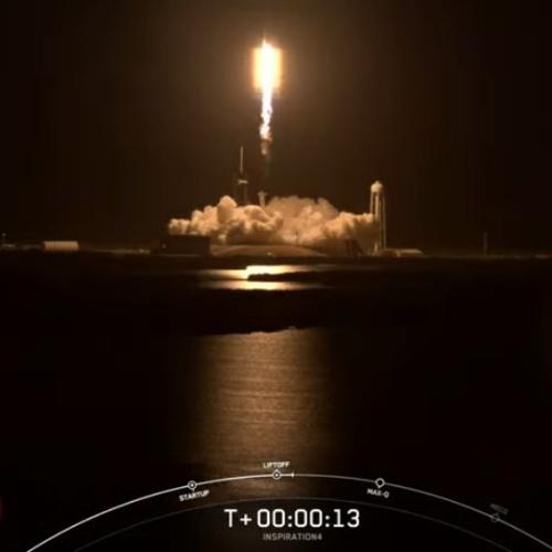 Falcon 9 at T+13 seconds