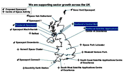 Map of UK space strategy