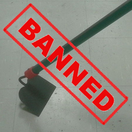 Garden hoes banned by Facebook!
