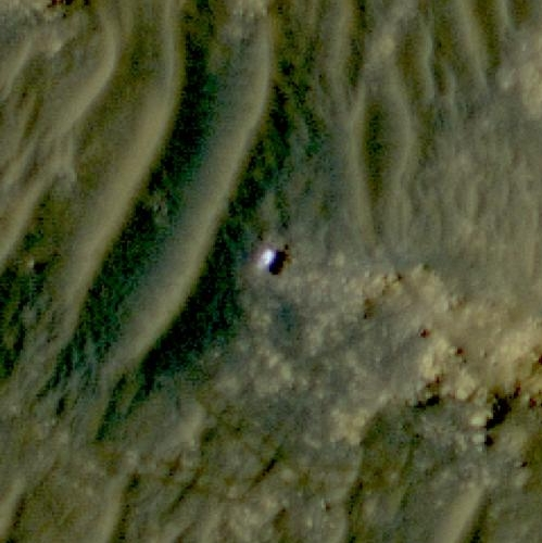 Perseverance as seen from orbit