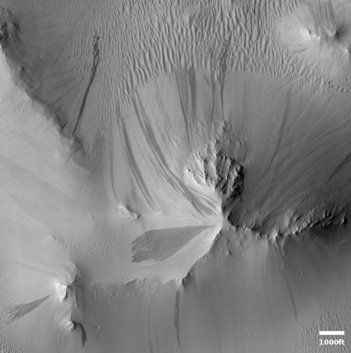 Land of Martian slope streaks