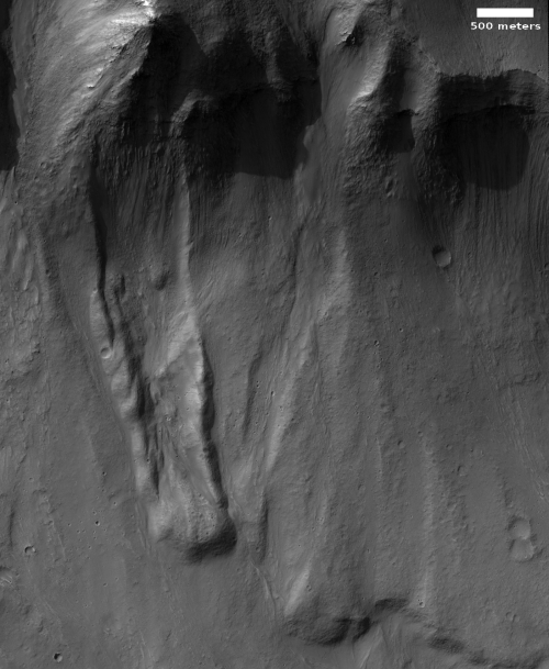 Mass wasting in Valles Marineris