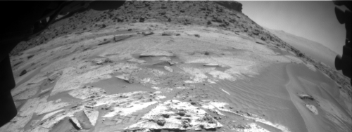 Example of first rover images downloaded following communications break